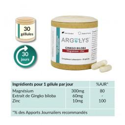 Composition Argolys Vision, Mémoire et Audition 30 gélules végétales