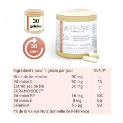 Composition Céramosides, huile de bourrache, sélénium et vitamines 30 gélules végétales