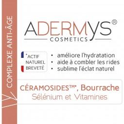 Étiquette Céramosides, huile de bourrache, sélénium et vitamines 30 gélules végétales