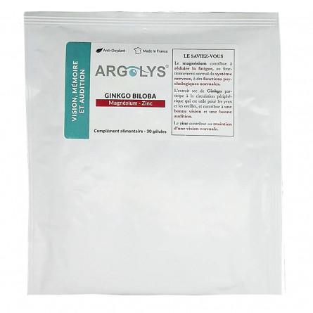 Sachet Argolys Vision, Mémoire et Audition 30 gélules végétales