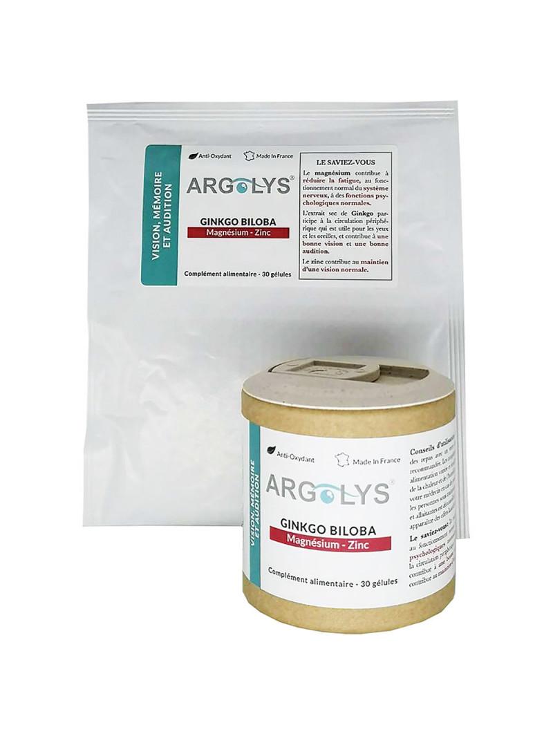 Pack Argolys Vision, Mémoire et Audition 1 flacon + 1 sachet recharge