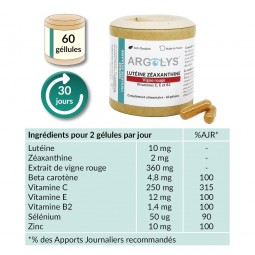 Composition Argolys Fatigue & Vieillesse Oculaire 60 gélules végétales